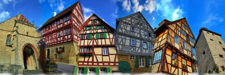 Collage of Eppingen with half-timbered house Stock Photo