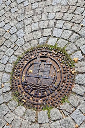 Kelheim / Germany - 19 09 2020: coat of arms is a city in Bavaria with many historical sights Editorial
