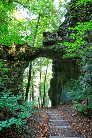 The rock gate is a sight of Emmendorf near Kinding