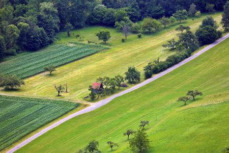 Landscape near Bad Ueberkingen from above Standard-Bild