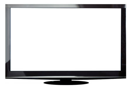 Modern plasma TV isolated on white with cipping path for the screen Zdjęcie Seryjne