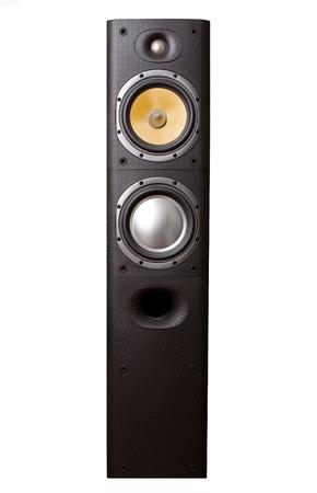 Big speaker isolated on white