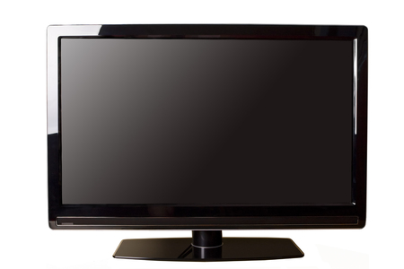 Modern LCD TV isolated on white Stock Photo