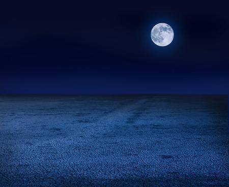 Moon over dry land Zdjęcie Seryjne