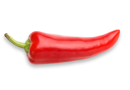 Red Chili Pepper on white (includes clipping path) Zdjęcie Seryjne