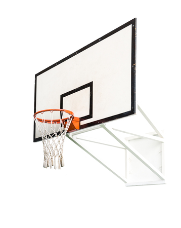Basketball hoop isolated on white background Zdjęcie Seryjne