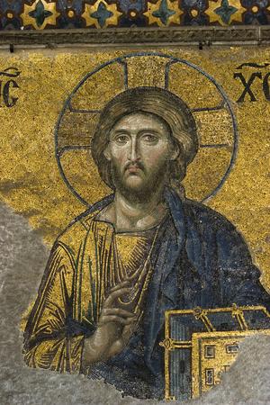 Mosaic Image of Jesus Zdjęcie Seryjne