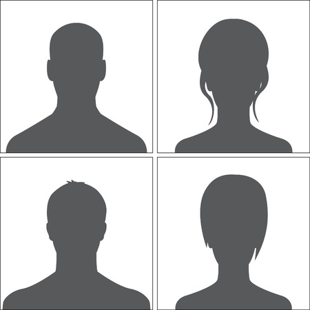 Avatars set grey Vector