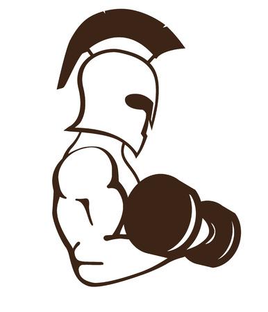 spartan athlete illustration
