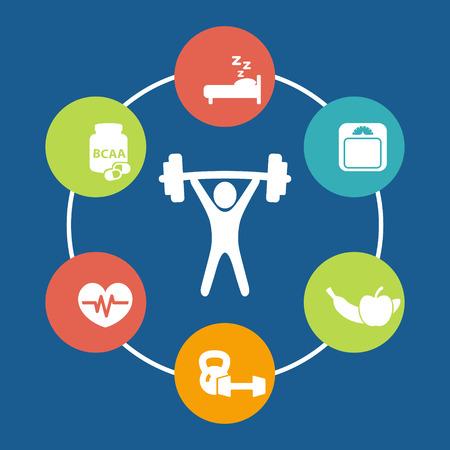 Aspekte des Gewichtheben Illustration Standard-Bild - 30901946
