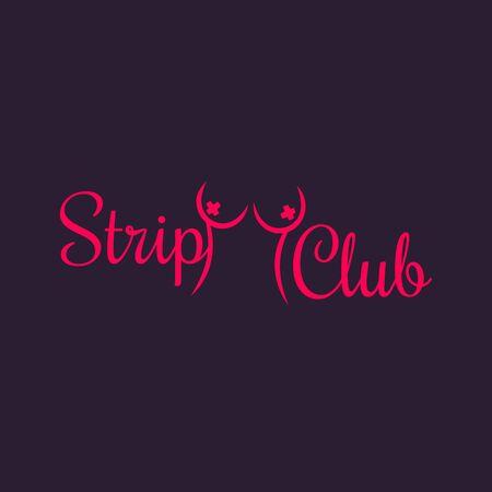signe Strip Club, modèle, illustration