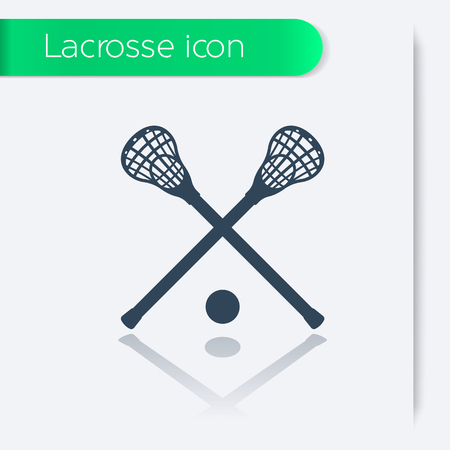 crosse: Lacrosse icon, sign, illustration