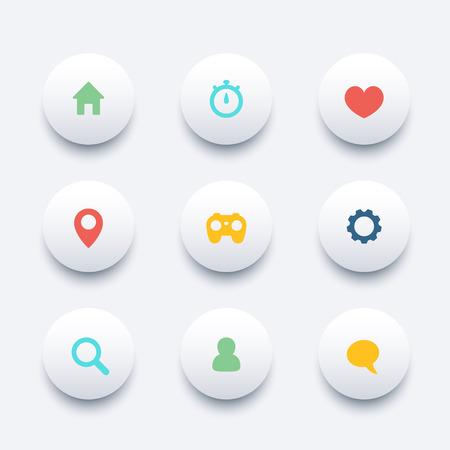 chat icon: Basic web round trendy icons