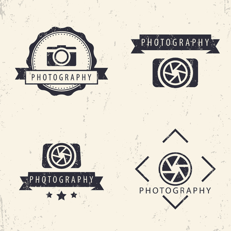 photography logo: photography, camera, photographer logo, emblems, signs, badges
