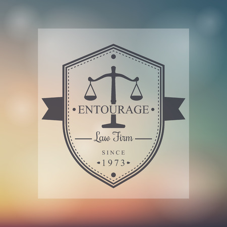 firm: Law Firm vintage badge, vector illustration