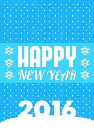 postcard design: Happy New Year postcard design, vector illustration Illustration