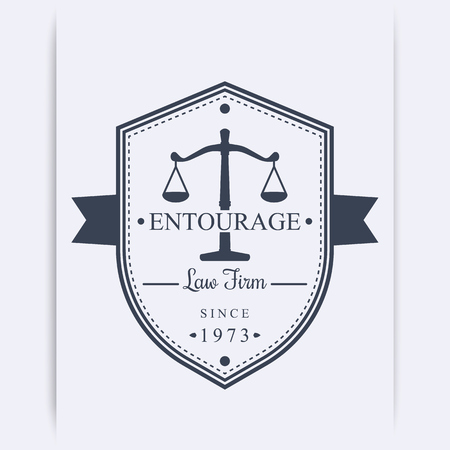 firm: Law Firm vintage, emblem, Law office template, vector illustration
