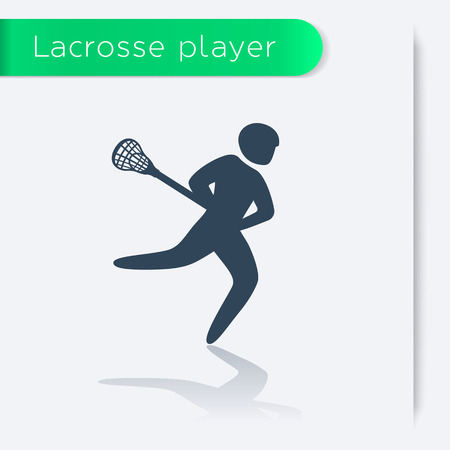 lax: Lacrosse player icon, vector illustration Illustration
