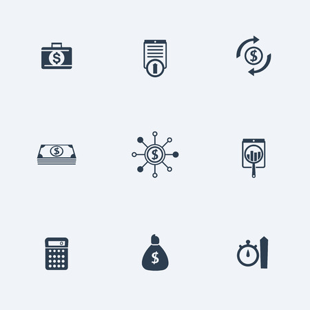 futures: finance, investments, capital, simple icons set, vector illustration Illustration