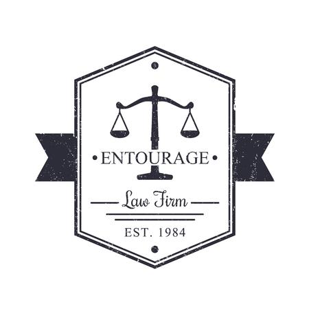 Law Firm vintage, badge, Law office sign, vector illustration