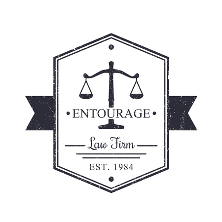 Law Firm vintage, badge, Law office sign, vector illustration
