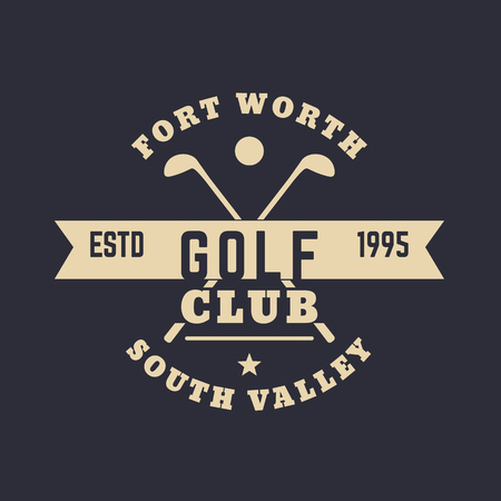 Golf Club vintage logo, sign, t-shirt print, vector illustration, eps10, easy to edit Ilustração
