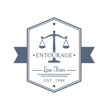 firm: Law Firm vintage logo, Law office sign, emblem, vector illustration Illustration