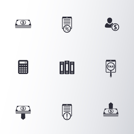 easy money: Bookkeeping, finance, money icons, vector illustration, eps10, easy to edit Illustration