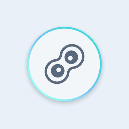 meiosis: Cell division round stylish icon, vector illustration Illustration
