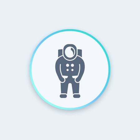 outer clothing: Astronaut icon, spaceman, space suit stylish icon, vector illustration