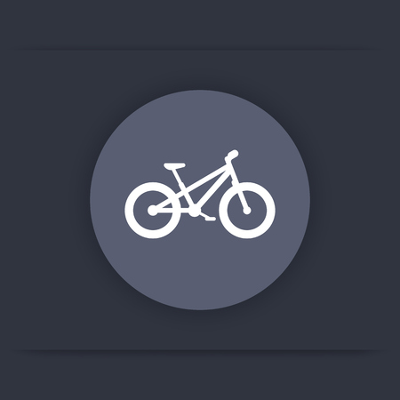 sign: Fat bike icon, bicycle round flat icon, vector illustration