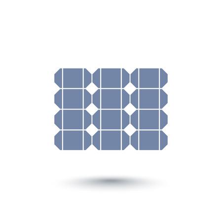 energetics: Solar energy icon, sun panel, solar energetics icon, vector illustration