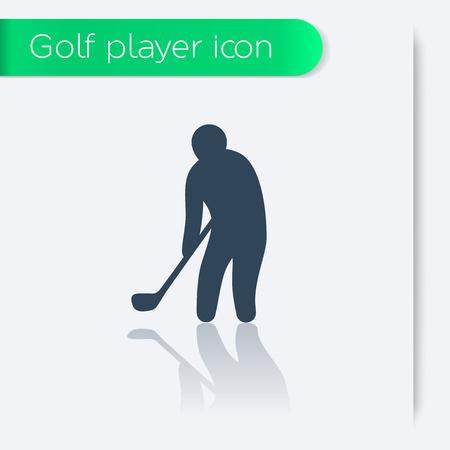 golf player: golf icon, golf player, golfer, vector illustration Illustration