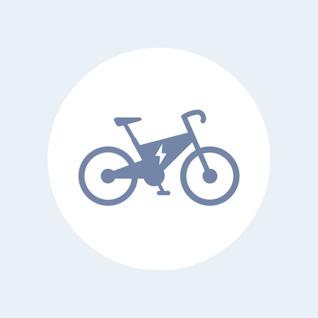 Electric bike icon, modern eco-friendly transport, vector illustration Çizim