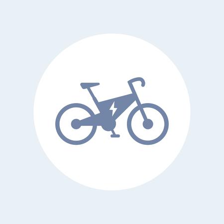 Electric bike icon, modern eco-friendly transport, vector illustration Illustration