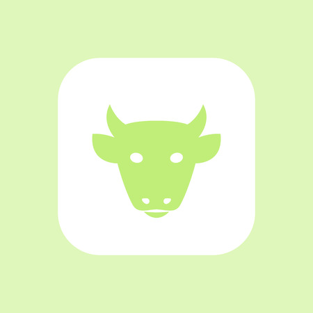 cattle: cattle icon, cattle farm sign, cow head front view, cattle ranch isolated icon, vector illustration Illustration
