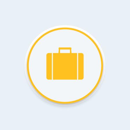 detachment: Suitcase icon, briefcase icon, case, luggage, suitcase symbol, business trip, travel concept, vector illustration