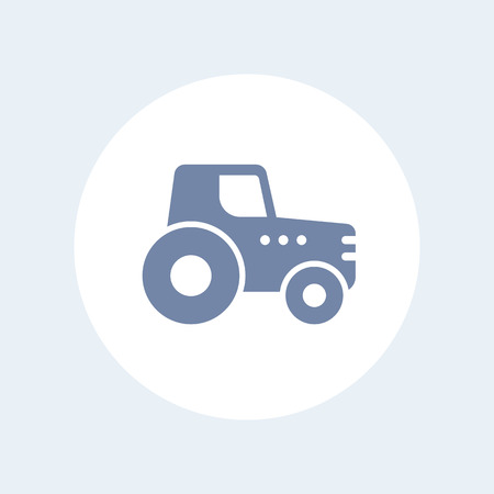 agricultural machinery: Agrimotor, tractor icon, agrimotor pictogram, agricultural machinery isolated icon, vector illustration Illustration