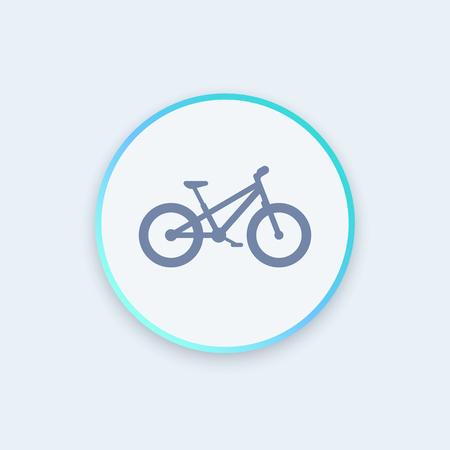 snow tires: Fat bike round icon, vector illustration