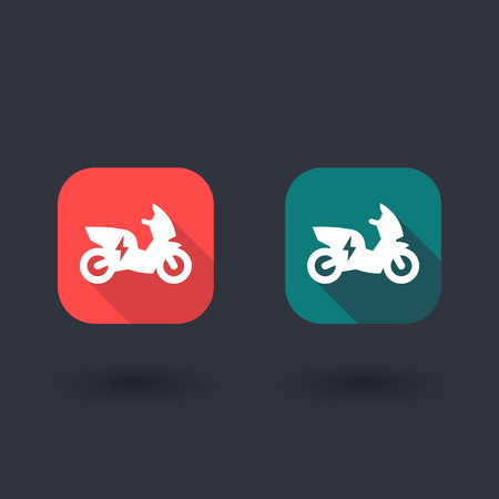ecologic: electric scooter, motorbike flat icon, EV, electric vehicle icon, ecologic transport, scooter icon, vector illustration