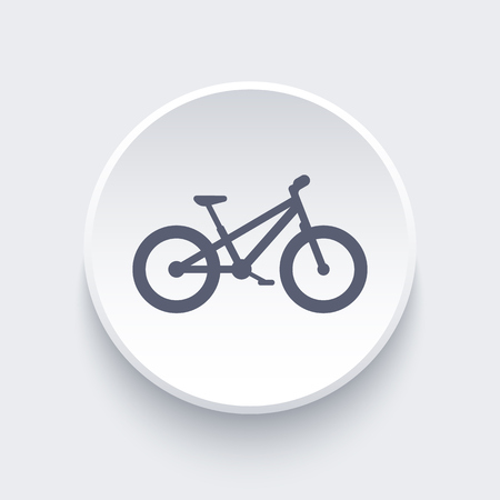 Fat bike , bicycle, offroad bike, fat bike round icon, illustration Illustration