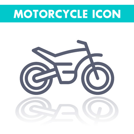 supercross: offroad bike, motorcycle linear icon, motocross pictogram, line icon isolated on white, illustration