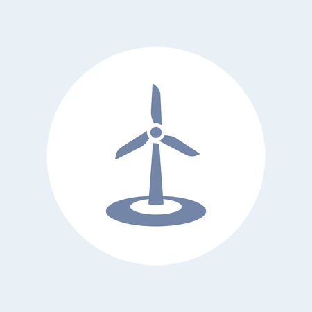 windfarms: wind energetics icon isolated on white, wind park sign, vector illustration Illustration