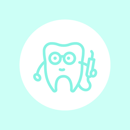 toothcare: Tooth dentist icon, stomatology logo element, vector illustration