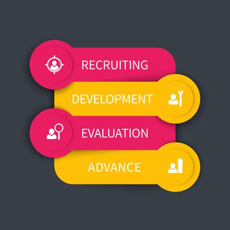 valuation: Staff development, infographics design elements, vector illustration