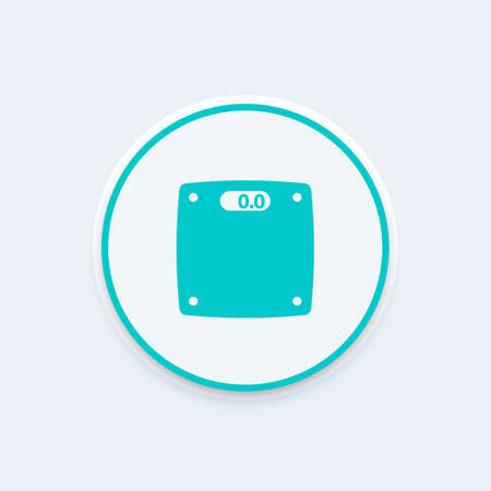 weight control: scales icon, diet, healthy lifestyle, fat loss, weight control, vector illustration