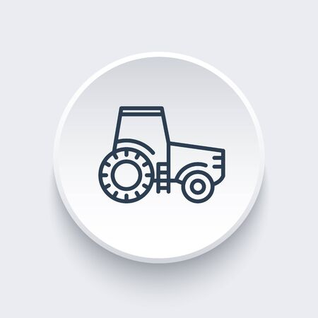 agrimotor: Tractor line icon, agrimotor vector, farm tractor linear icon, vector illustration