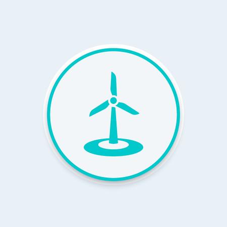 windfarm: wind energetics icon, wind park element, vector illustration Illustration