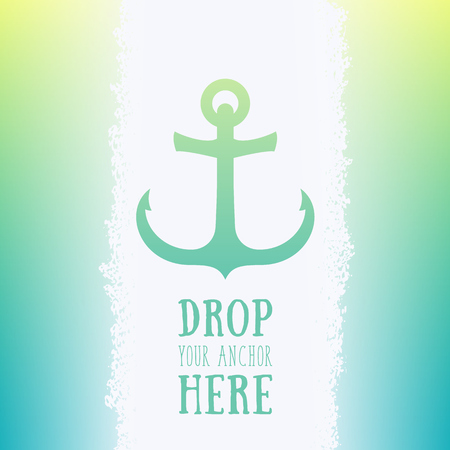 Nautical anchor icon, vector element, vector illustration