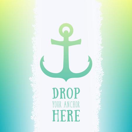 Nautical anchor icon, vector element, vector illustration